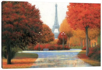 Autumn In Paris Canvas Art Print