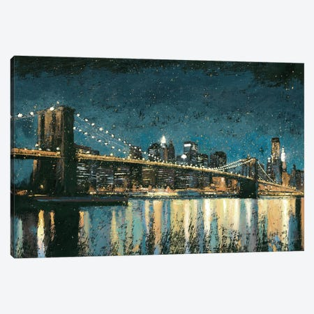 Bright City Lights I (Blue) Canvas Print #WAC3866} by James Wiens Canvas Print