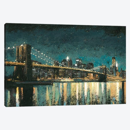 Bright City Lights II (Teal) Canvas Print #WAC3867} by James Wiens Canvas Art Print