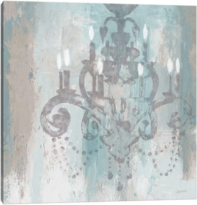 Candelabra II (Teal) Canvas Art Print