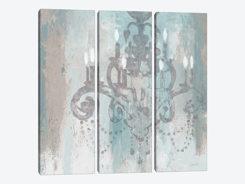 Candelabra II (Teal) 3-piece Canvas Print