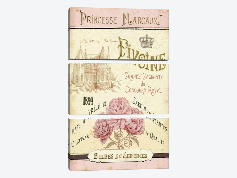 French Seed Packet III by Daphne Brissonnet 3-piece Canvas Artwork