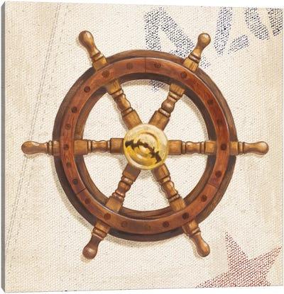 Nautical Wheel Canvas Print #WAC3873
