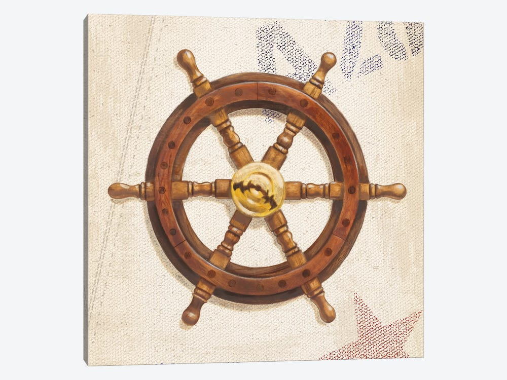 Nautical Wheel by James Wiens 1-piece Canvas Art Print