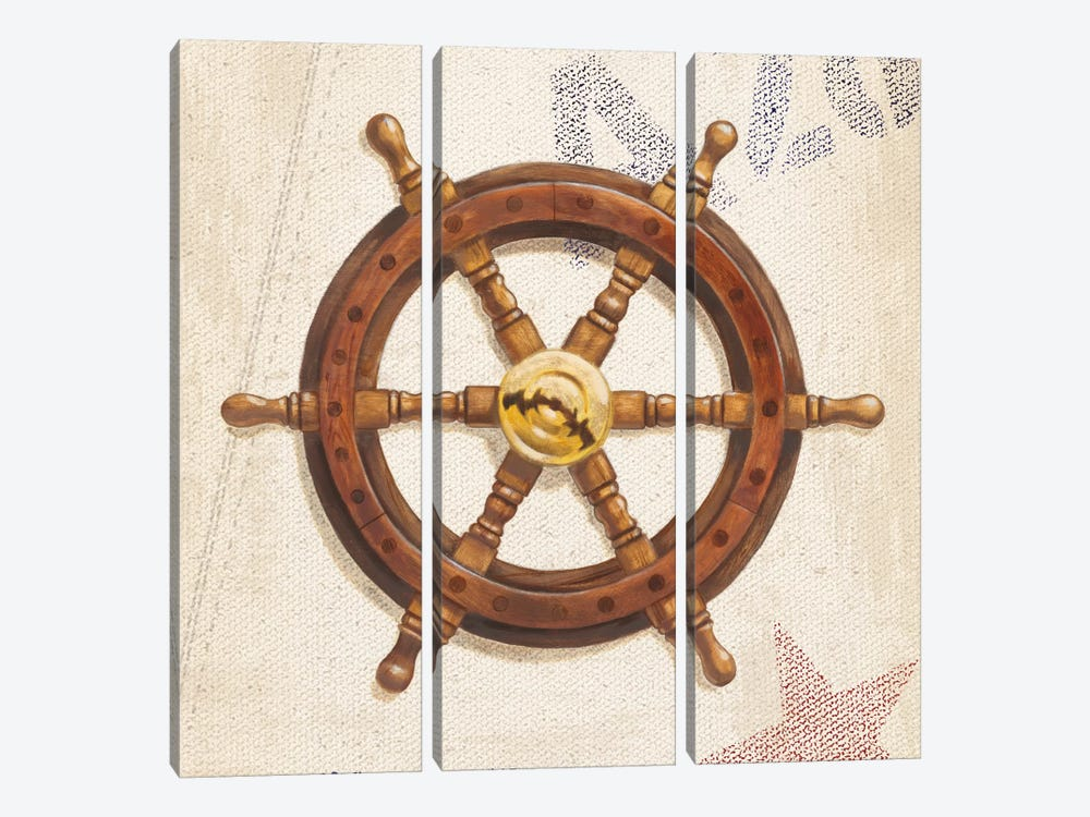 Nautical Wheel by James Wiens 3-piece Canvas Print