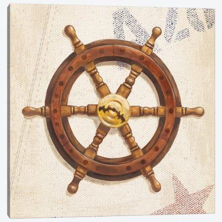 Nautical Wheel 3-Piece Canvas #WAC3873} by James Wiens Canvas Art Print