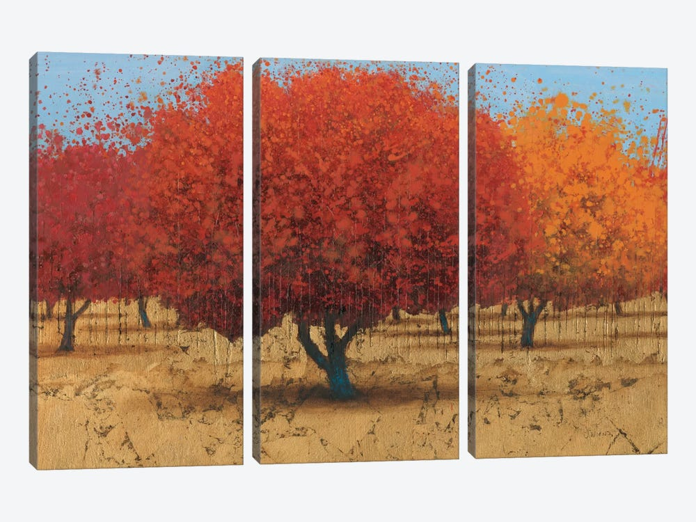 Orange Trees II by James Wiens 3-piece Canvas Art