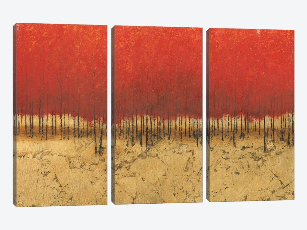 Orange Trees III by James Wiens 3-piece Canvas Print