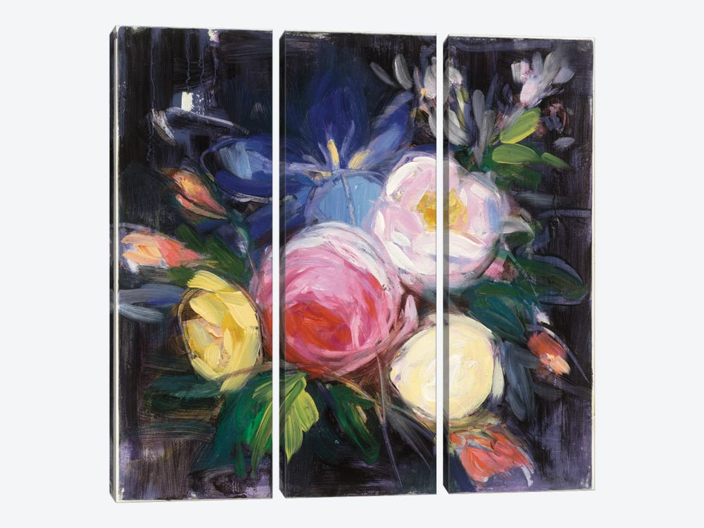 Floral Fun I by Julia Purinton 3-piece Canvas Wall Art