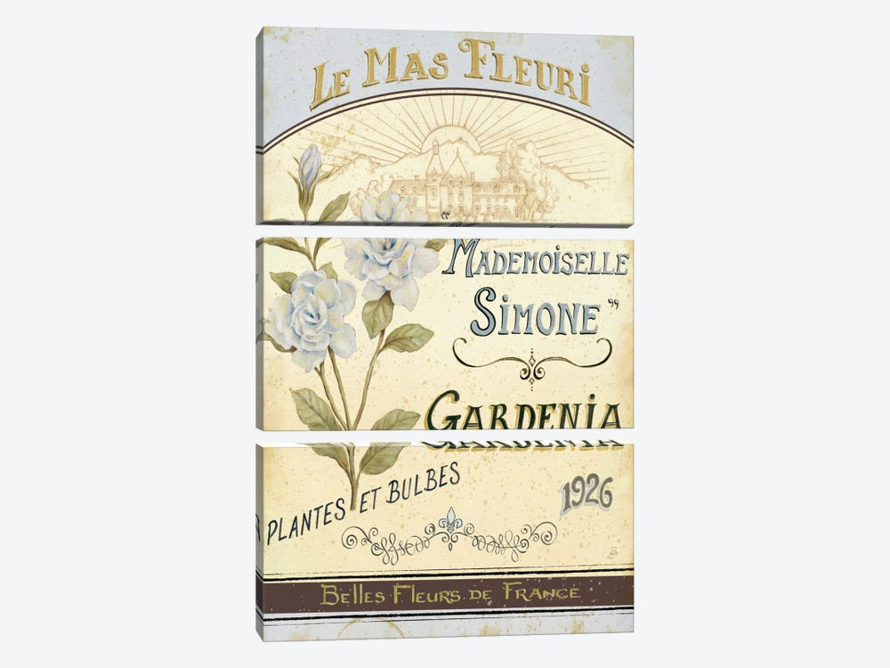 French Seed Packet IV by Daphne Brissonnet 3-piece Canvas Art Print