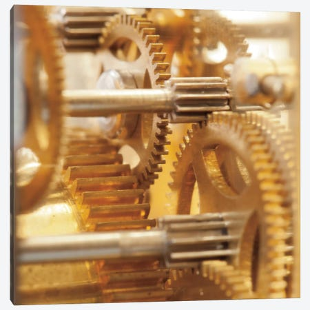 Gilded Gears I Canvas Print #WAC3885} by Laura Marshall Canvas Print