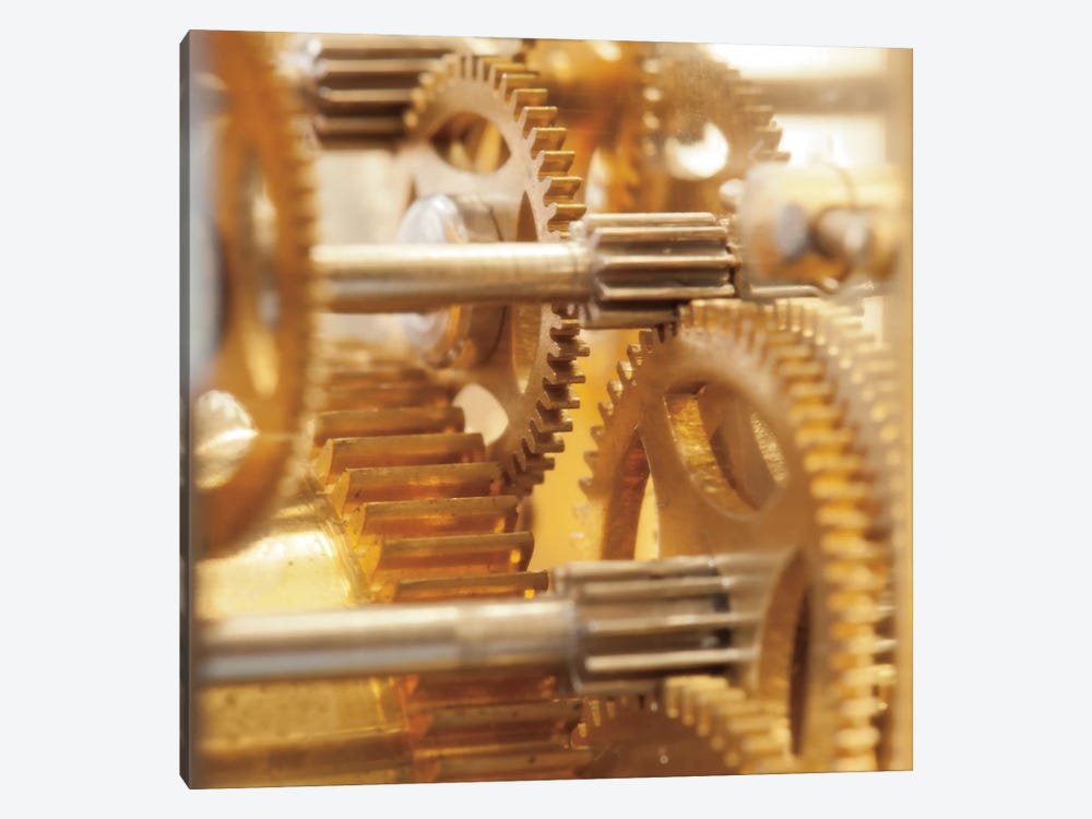 Gilded Gears I by Laura Marshall 1-piece Canvas Artwork