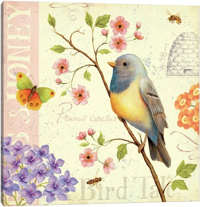 Birds and Bees I  Canvas Print #WAC388