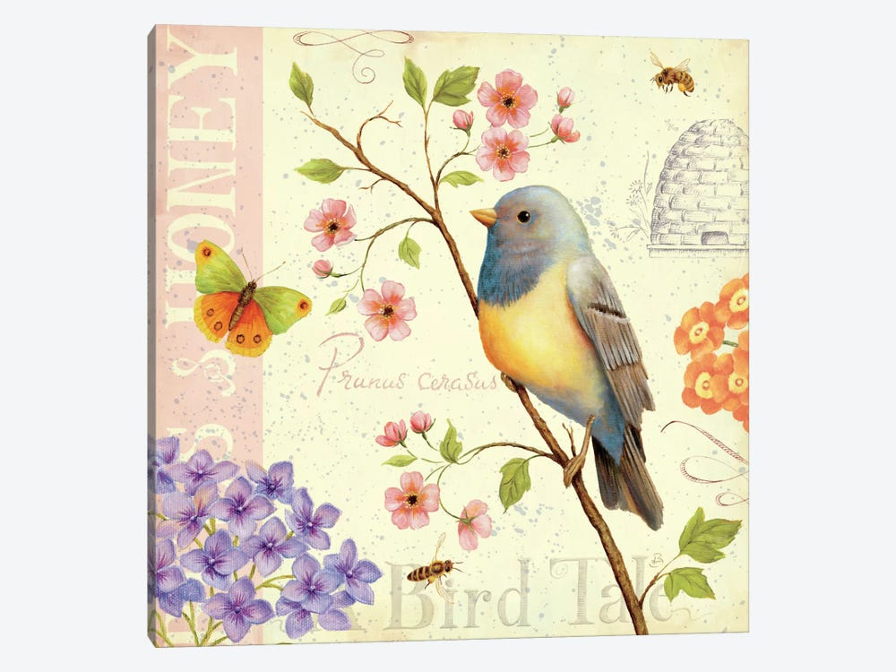 Birds and Bees I  by Daphne Brissonnet 1-piece Canvas Wall Art