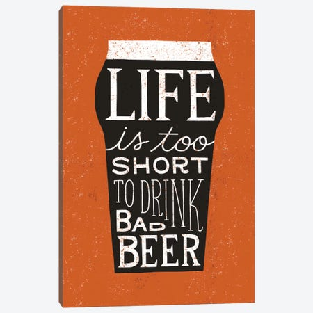 Craft Beer I Canvas Print #WAC3896} by Michael Mullan Canvas Wall Art