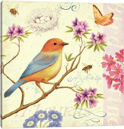 Birds and Bees II  Canvas Print #WAC389