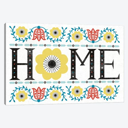 Folk Lodge (Home) Canvas Print #WAC3904} by Michael Mullan Canvas Wall Art