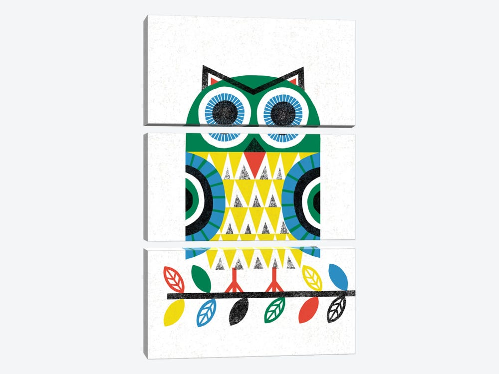 Folk Lodge (Owl I) 3-piece Art Print