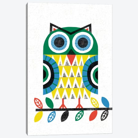 Folk Lodge (Owl I) Canvas Print #WAC3905} by Michael Mullan Canvas Wall Art