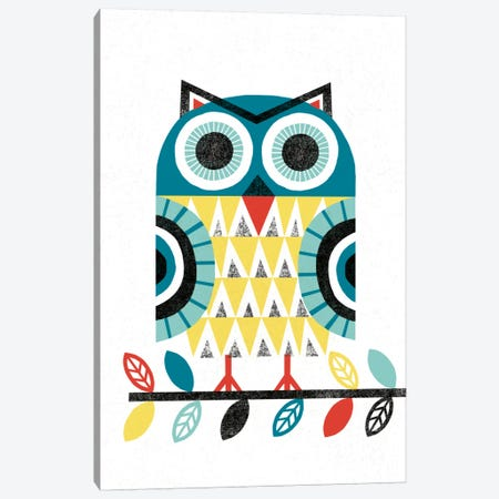Folk Lodge (Owl II) Canvas Print #WAC3906} by Michael Mullan Canvas Wall Art