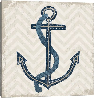 Nautical Anchor Canvas Art Print