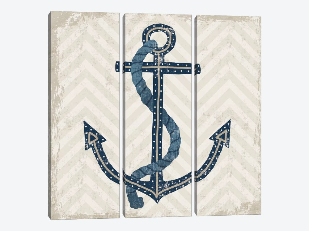 Nautical Anchor by Michael Mullan 3-piece Art Print