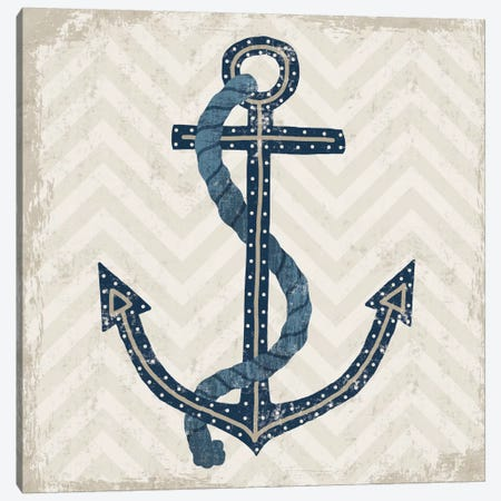 Nautical Anchor 3-Piece Canvas #WAC3909} by Michael Mullan Canvas Print