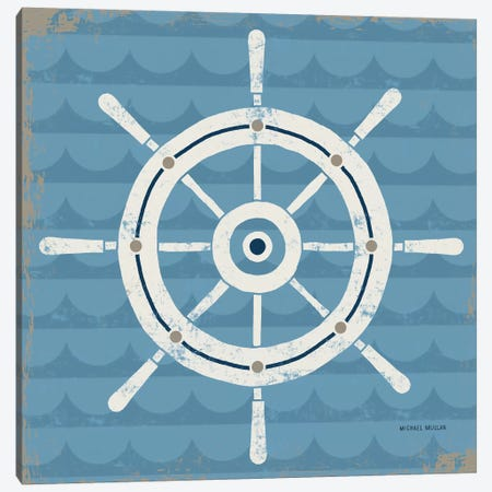 Nautical Helm Canvas Print #WAC3910} by Michael Mullan Canvas Art