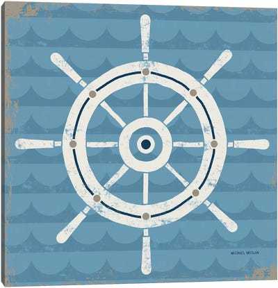 Nautical Helm Canvas Art Print
