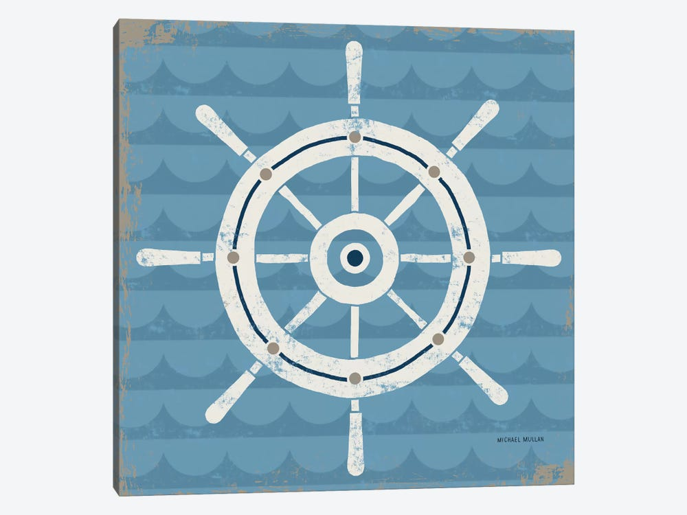 Nautical Helm by Michael Mullan 1-piece Canvas Print