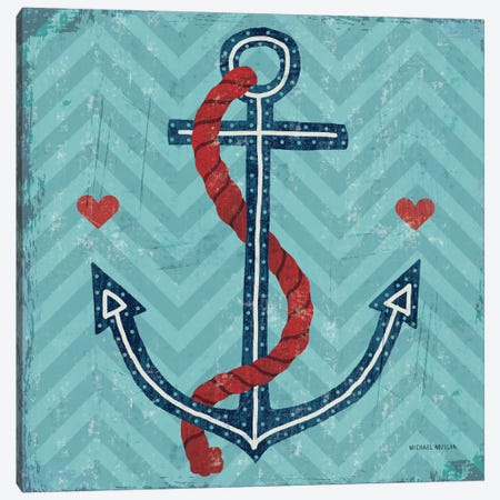 Nautical Love (Anchor) Canvas Print #WAC3911} by Michael Mullan Canvas Art