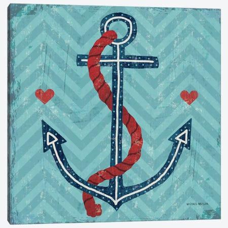 Nautical Love (Anchor) Canvas Print #WAC3911} by Michael Mullan Canvas Art