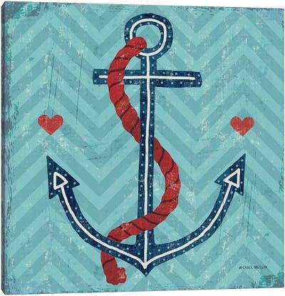 Nautical Love (Anchor) Canvas Art Print