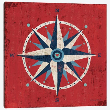 Nautical Love (Compass) Canvas Print #WAC3912} by Michael Mullan Canvas Wall Art