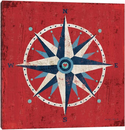 Nautical Love (Compass) Canvas Art Print