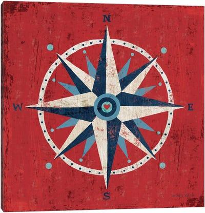 Nautical Love (Compass) Canvas Print #WAC3912