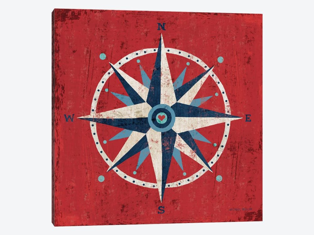 Nautical Love (Compass) 1-piece Art Print