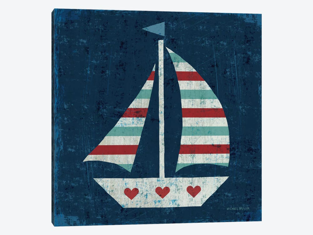 Nautical Love (Sail Boat I) by Michael Mullan 1-piece Canvas Print