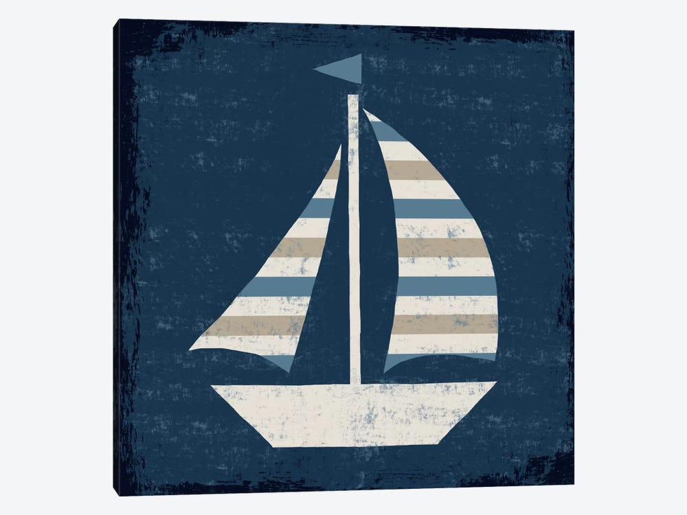Nautical Love (Sail Boat II) by Michael Mullan 1-piece Canvas Wall Art
