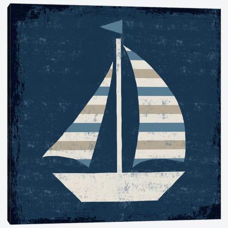 Nautical Love (Sail Boat II) Canvas Print #WAC3915} by Michael Mullan Canvas Art Print