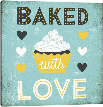 Retro Diner (Baked with Love) Canvas Art Print