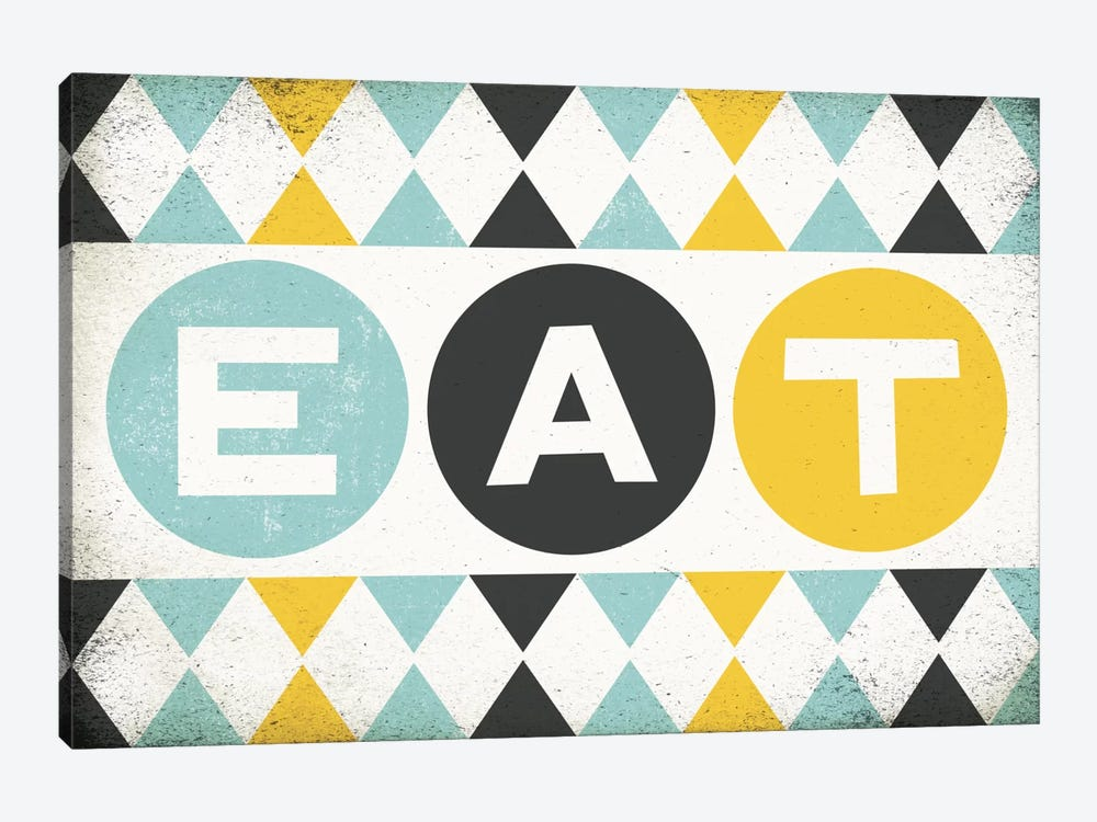 Retro Diner (Eat) by Michael Mullan 1-piece Canvas Print
