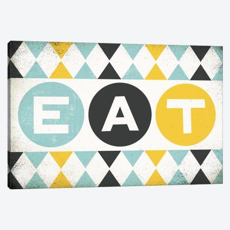 Retro Diner (Eat) Canvas Print #WAC3918} by Michael Mullan Canvas Wall Art
