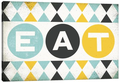 Retro Diner (Eat) Canvas Art Print