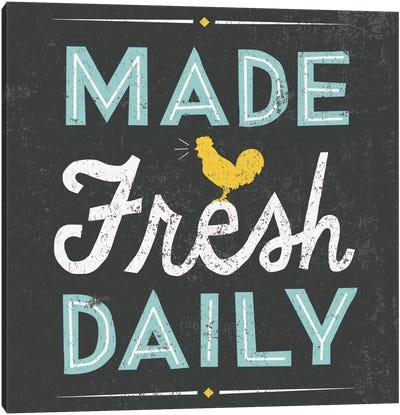 Retro Diner (Made Fresh Daily) Canvas Art Print