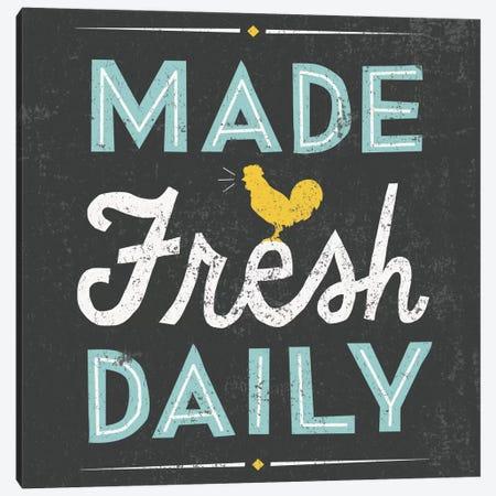 Retro Diner (Made Fresh Daily) Canvas Print #WAC3919} by Michael Mullan Canvas Art