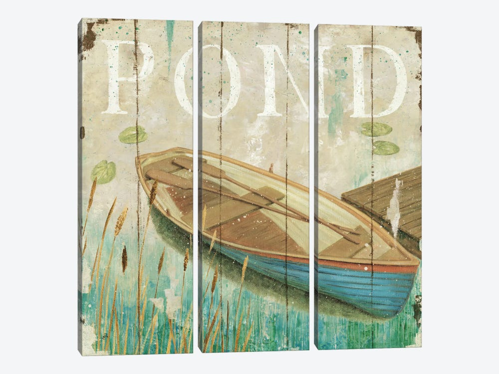 Waterside II by Daphne Brissonnet 3-piece Canvas Wall Art