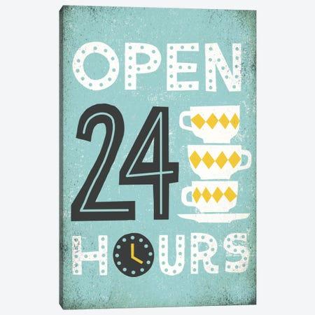 Retro Diner (Open 24 Hours I) Canvas Print #WAC3920} by Michael Mullan Canvas Art Print