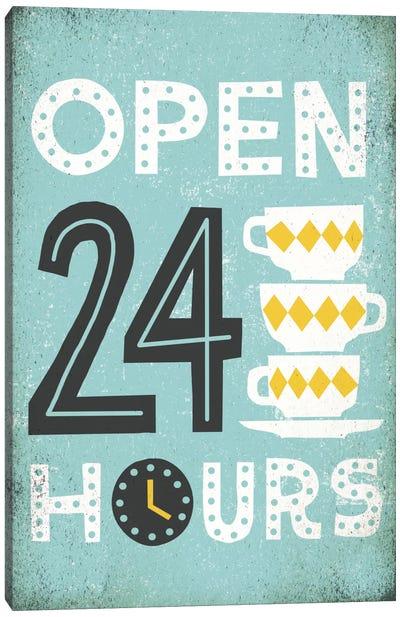 Retro Diner (Open 24 Hours I) Canvas Art Print