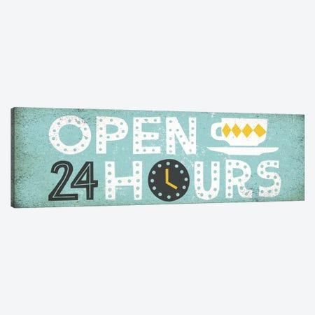 Retro Diner (Open 24 Hours II) Canvas Print #WAC3921} by Michael Mullan Art Print